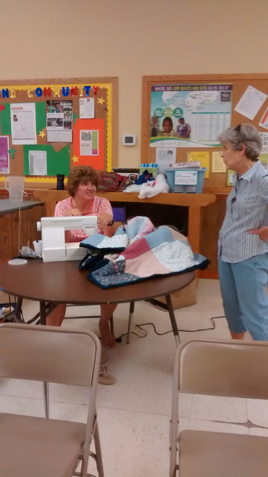 Arlene and Debbie catching up